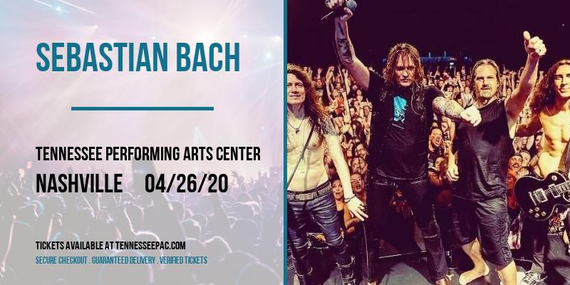 Sebastian Bach at Tennessee Performing Arts Center