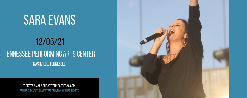 Sara Evans at Tennessee Performing Arts Center