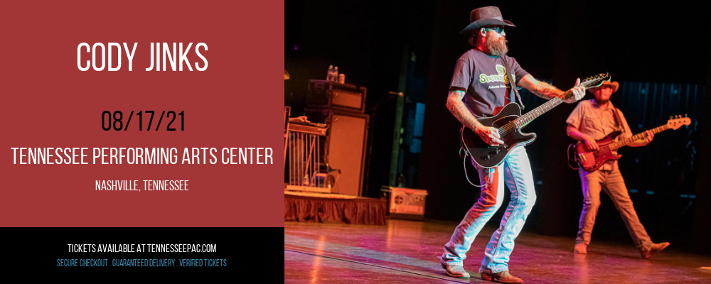 Cody Jinks at Tennessee Performing Arts Center