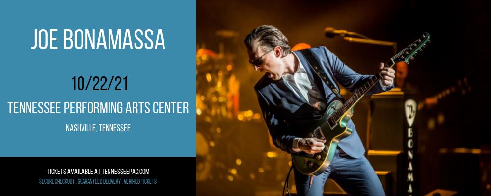 Joe Bonamassa at Tennessee Performing Arts Center