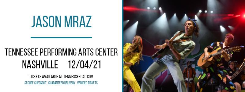 Jason Mraz at Tennessee Performing Arts Center