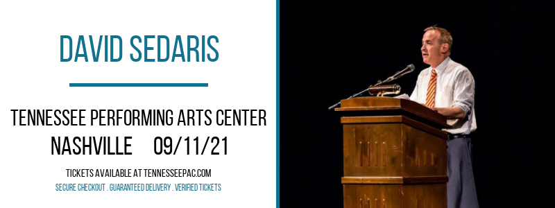 David Sedaris at Tennessee Performing Arts Center
