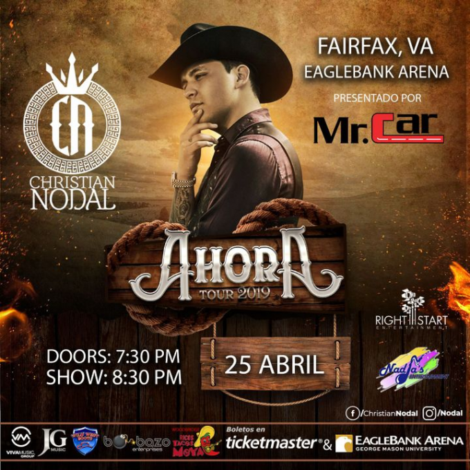 Christian Nodal at Tennessee Performing Arts Center